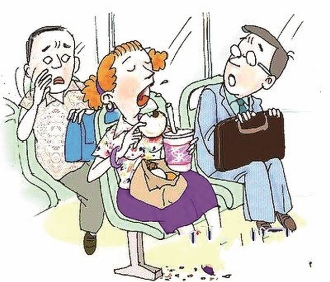 """公交车里的""""早餐"""""""